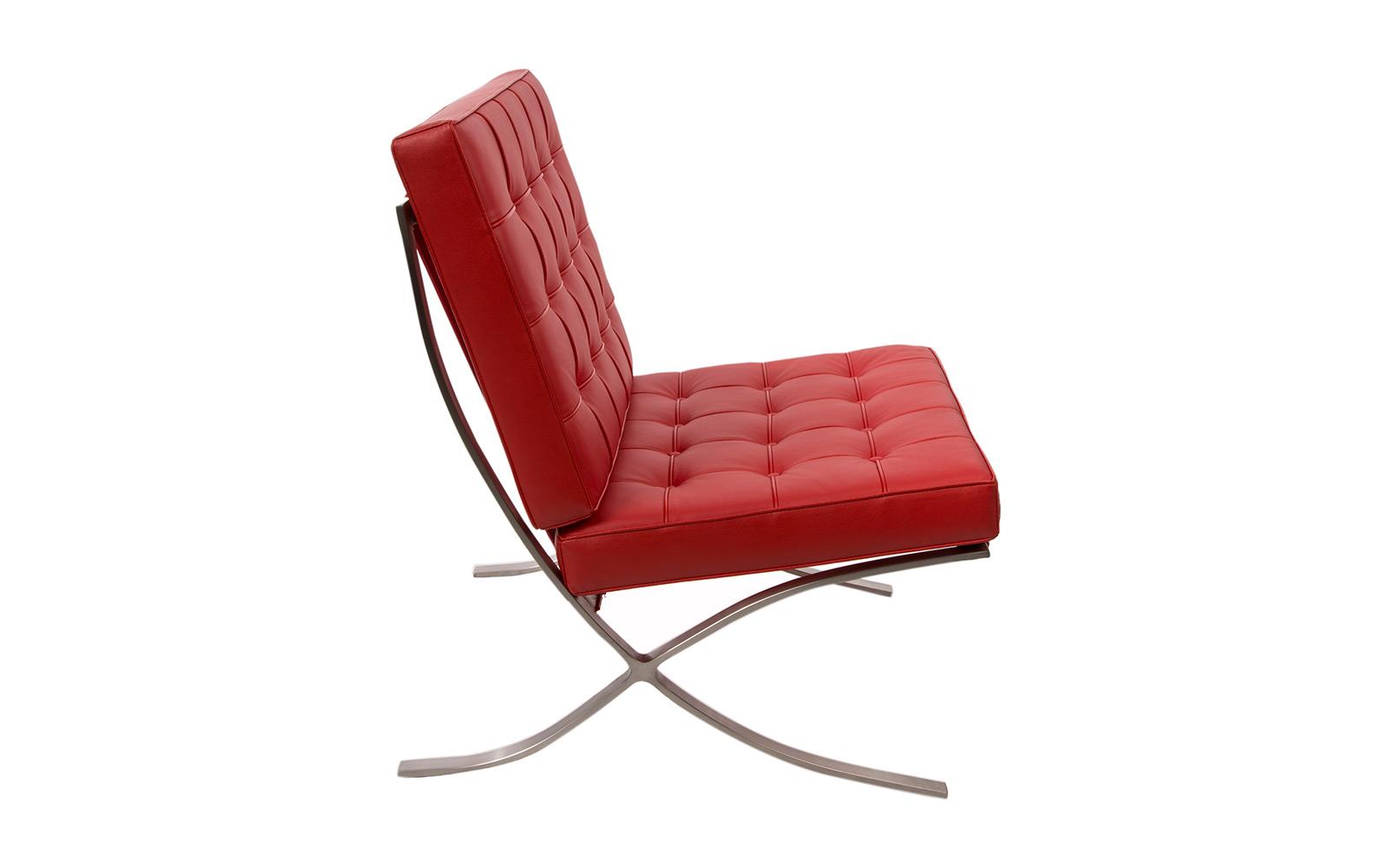 silla barcelona rojo