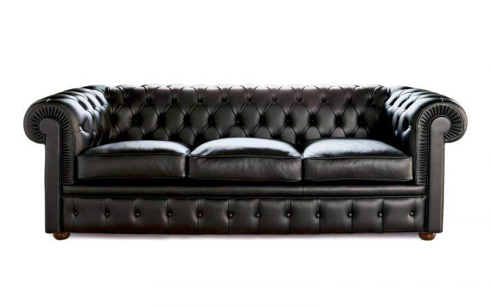 Sofá Chester negro