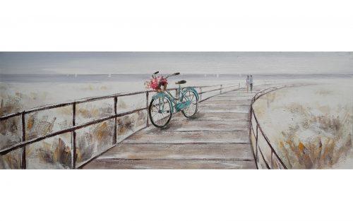 Cuadro de bici azul